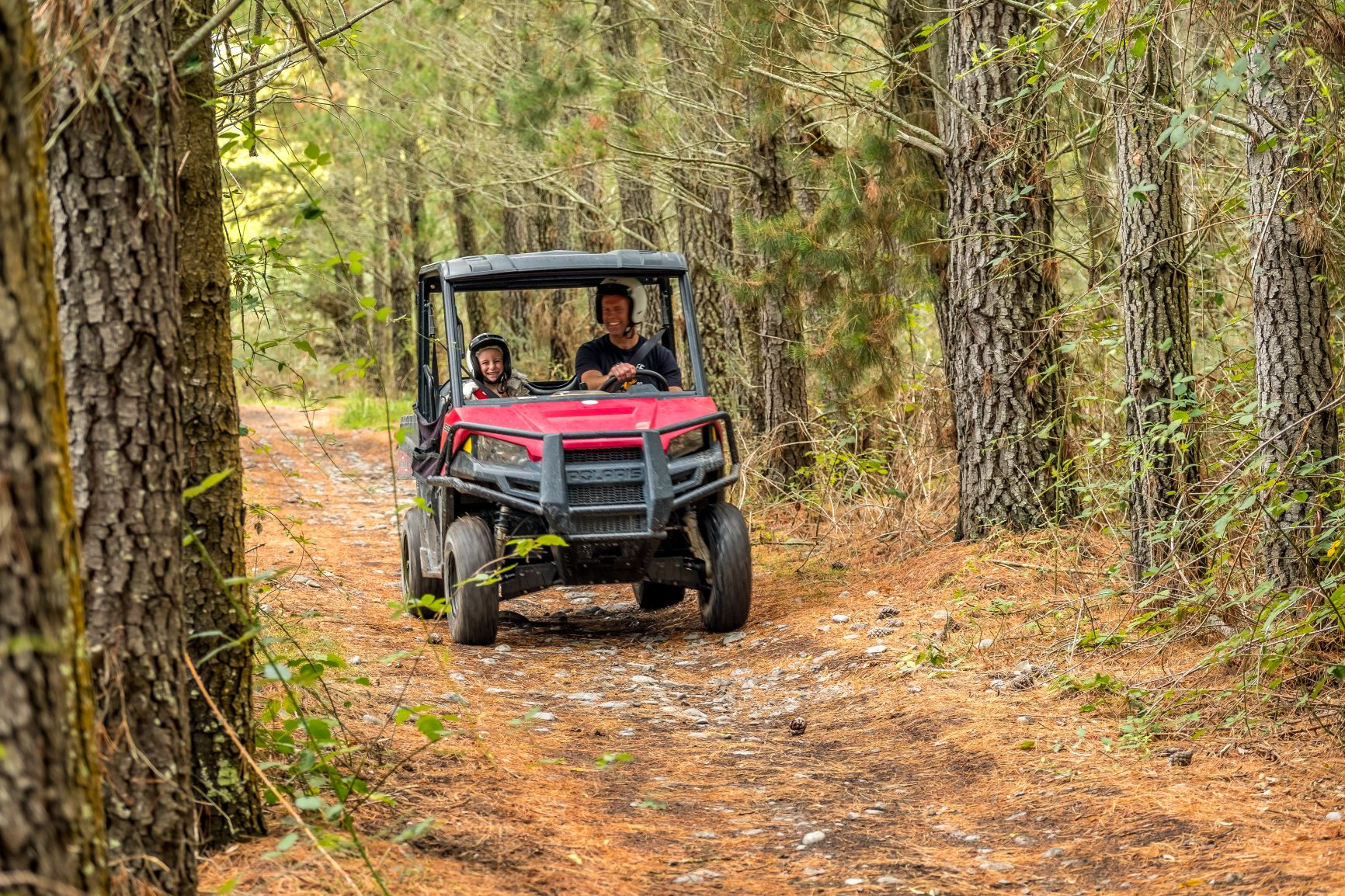 Father and child on Hanmer Springs Attractions Off Road Buggy