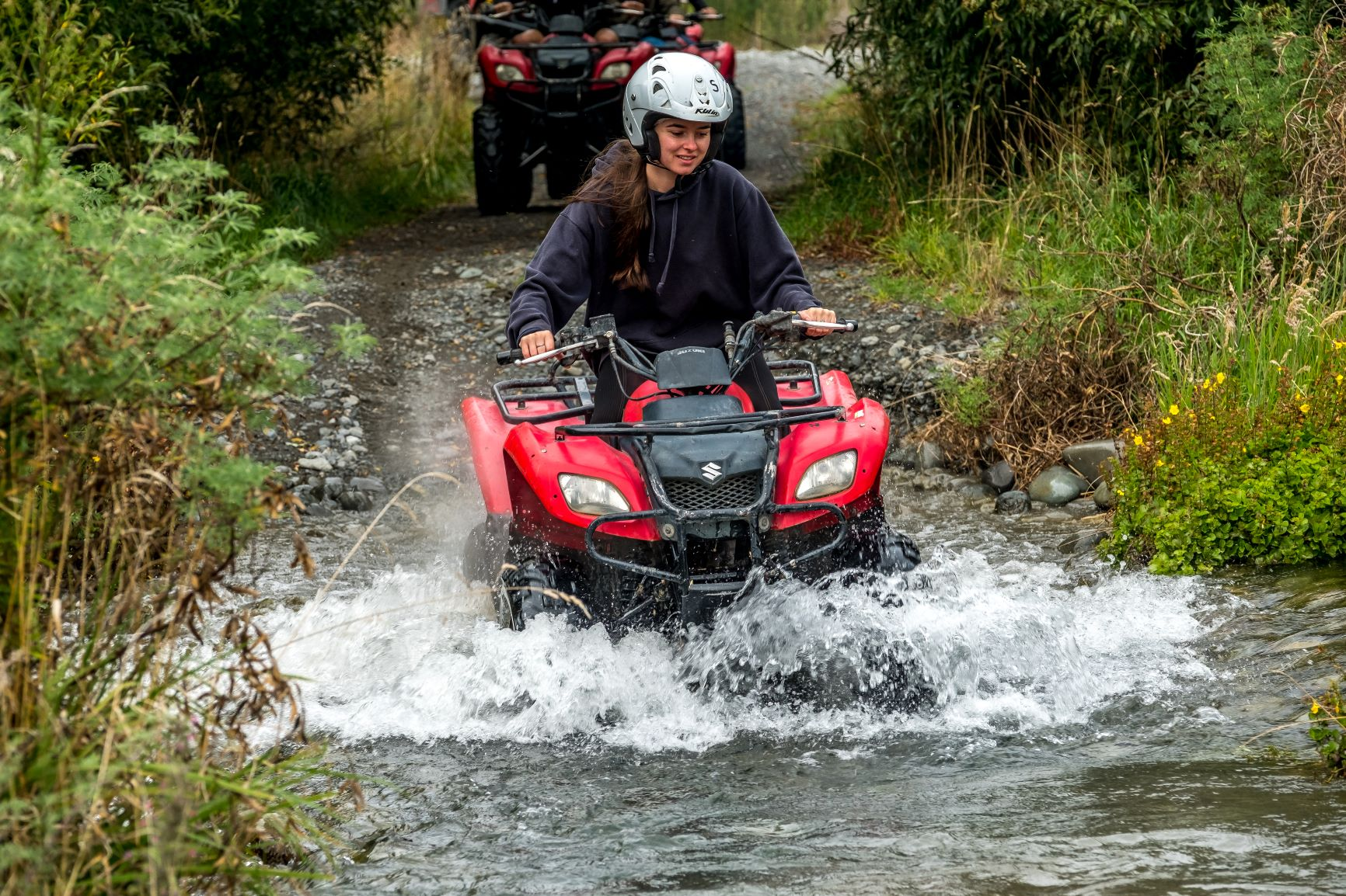 Woman on Hanmer Springs Attractions Quad Bike