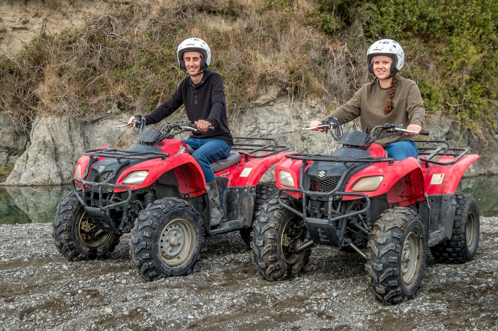 Couple sitting on Hanmer Springs Attractions Quad Bikes